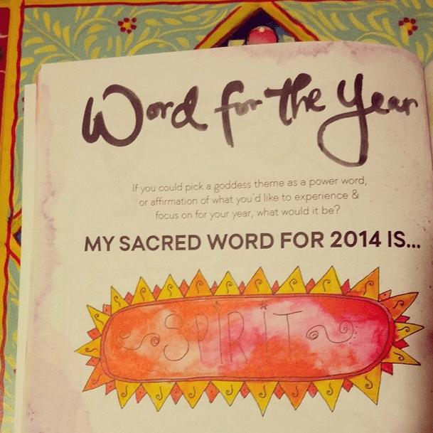 Word of the Year - Leonie Dawson workbook