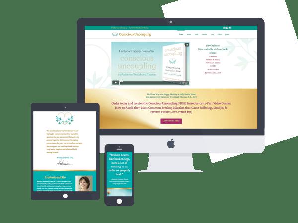 conscious uncoupling website design