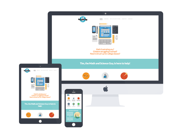 tutoring website design by bhakti creative
