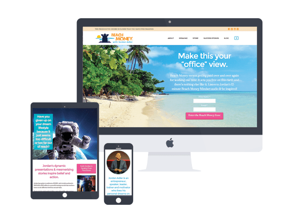 beach money jordan adler website design