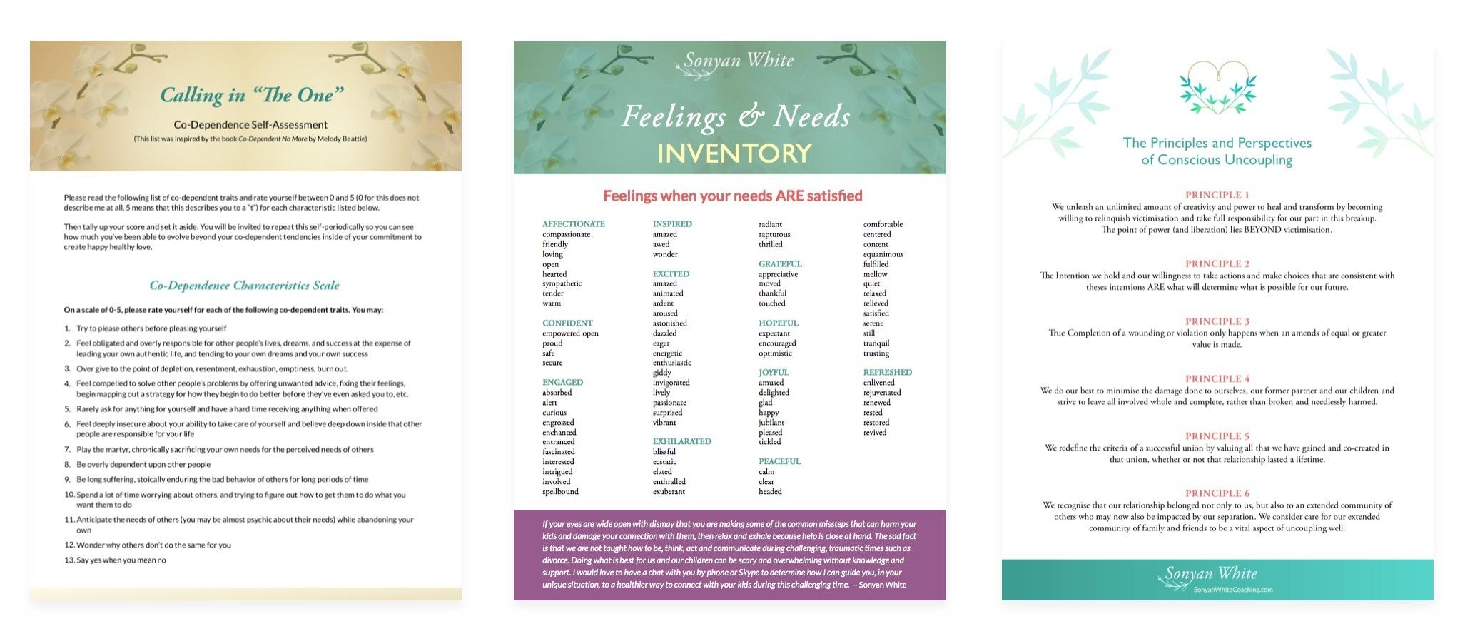 PDF designs for relationship coaches by Bhakti Creative