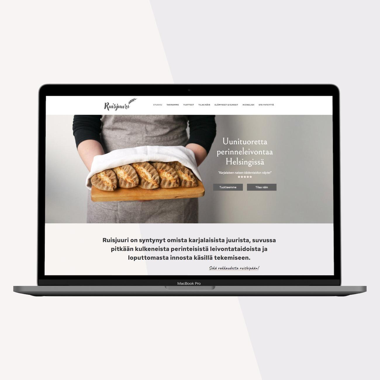 Ruisjuuri leipomo nettisivut