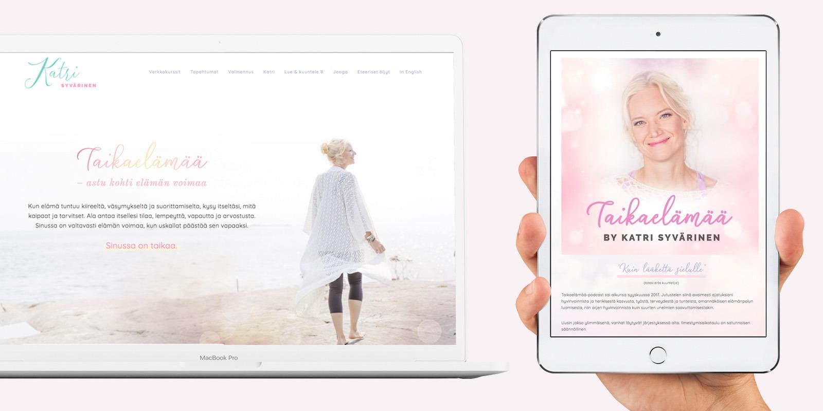 Bhakti Creative luomat nettisivut Katri Syväriselle